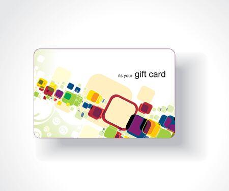 Beautiful gift card, vector illustration. Stock Vector - 7153495