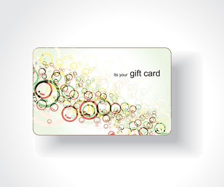traditional events: Beautiful gift card, vector illustration.