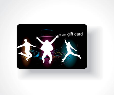 Beautiful gift card, vector illustration.  Vector
