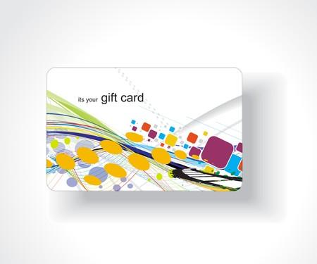 Beautiful gift card, vector illustration. Stock Vector - 7153432