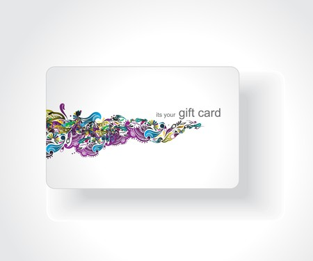 Beautiful gift card, vector illustration. Stock Vector - 7153416