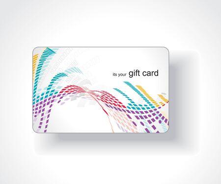 Beautiful gift card, vector illustration. Stock Vector - 7153423