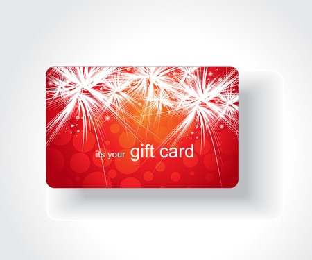 bright card: Beautiful gift card, vector illustration.