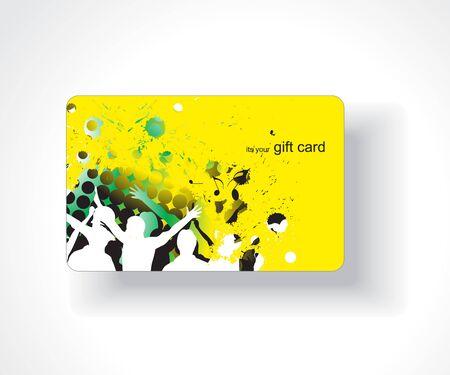 square dancing: Beautiful gift card, vector illustration.