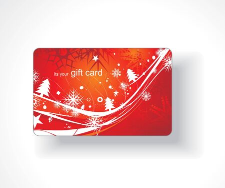 tree service business: Beautiful gift card, vector illustration.