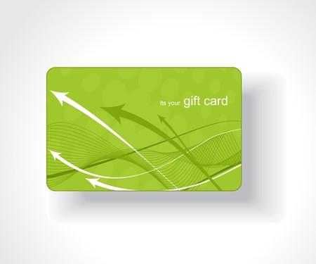 gift shop: Beautiful gift card, vector illustration.