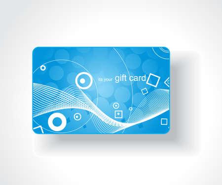 service card: Beautiful gift card, vector illustration.
