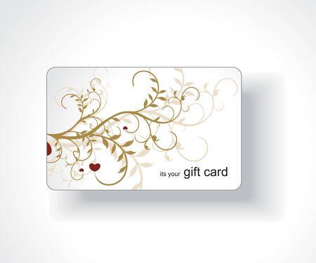 Beautiful gift card, vector illustration.  Vector