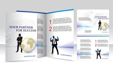 mag: brochure design for Business artworks. Vector illustration.