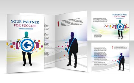 brochure design for busieness partner, vector illustartion. Vector