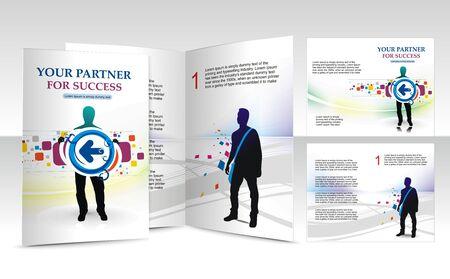 mag: conception de la brochure pour busieness partenaire, vecteur illustartion. Illustration