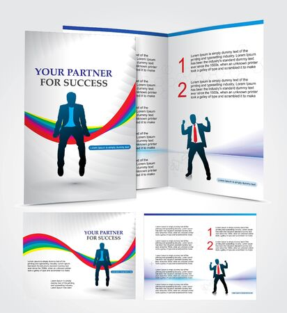 mag: brochure design for busieness partner, vector illustartion.