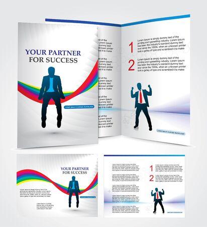 inserting: brochure design for busieness partner, vector illustartion.