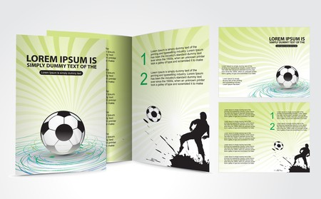 Football brochure design for champion cup and place for your text, vector illustration. Vector