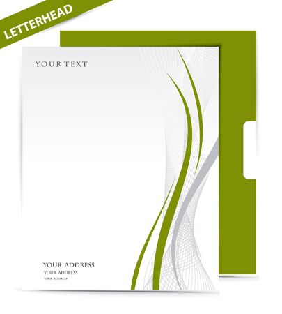 letterhead: Paper envelope isolated on white background, vector illustration.