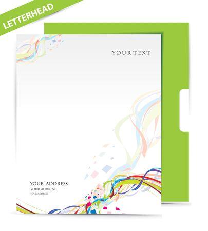 hojas membretadas: Sobres de papel aislados sobre fondo blanco, ilustraci�n vectorial.