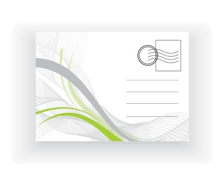 backside: empty post card, isolated on illustration background, vector illustration