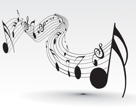 Music notes for design use, vector illustration Stock Vector - 7267598