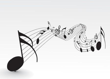 popular music concert: Utilizzare note di musica per il design, illustrazione vettoriale. Vettoriali