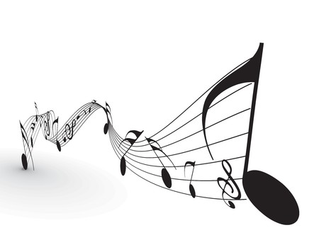 Music notes for design use, vector illustration Stock Vector - 7266822