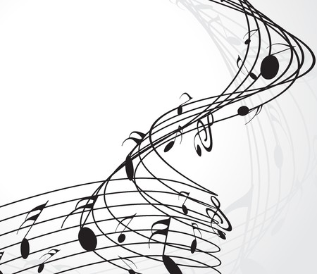 music sheet: Music notes for design use, vector illustration Illustration