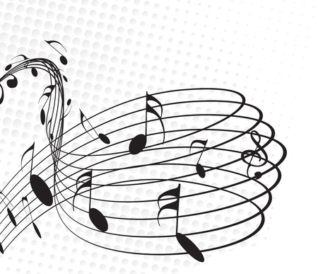 music sheet: Music notes for design use, vector illustration. Illustration
