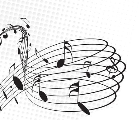 sheet music: Music notes for design use, vector illustration. Illustration