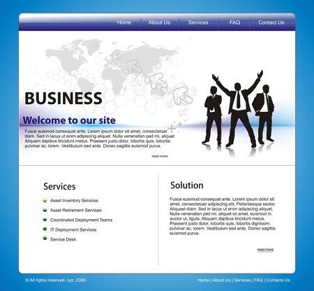 Web site design template, vector ilustration. Vector