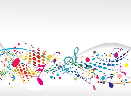 pentagrama musical: dise�o de notas de m�sica para el uso de fondo de m�sica, ilustraci�n vectorial de Abstract