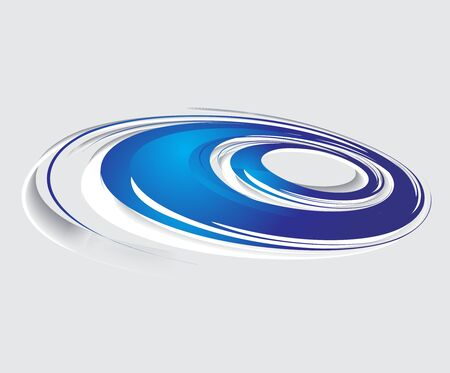 blue swirl: Abstract blue swirl wave background Illustration