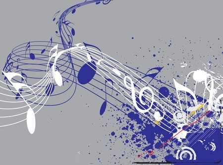 swirl composition: Music notes for design use