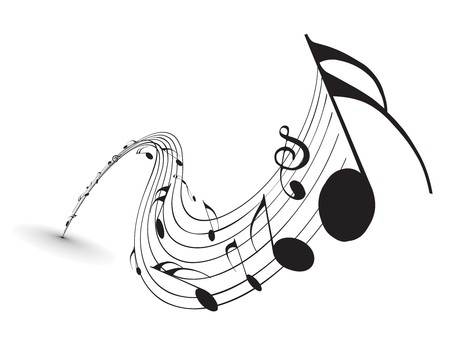 treble clef: Music notes for design use