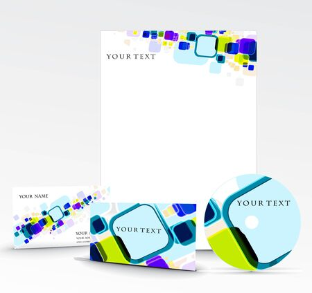 name calling: Business style templates. Illustration