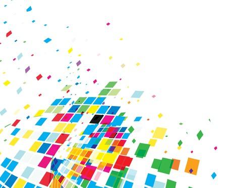 actual: abstract mosaic