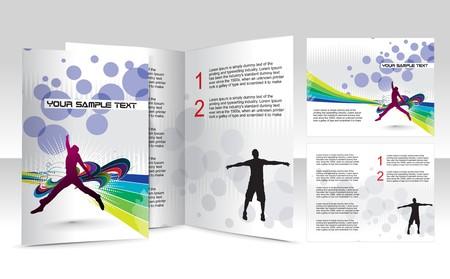 mag: brochure design concept art Illustration