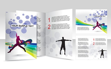brochure design for concept art Vector