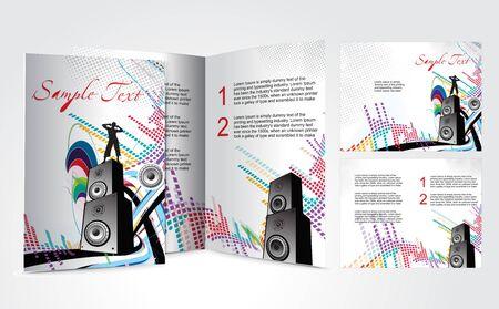 mag: conception de brochure pour le concept de musique