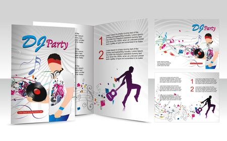music dj: brochure design for music dj concept