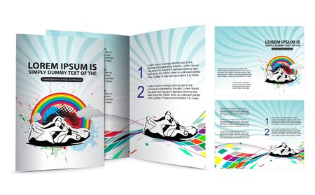 shoe brochure design for champion cup and place for your text Vector
