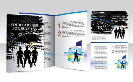 brochure design for funky guys Vector