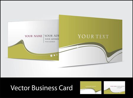 bright card: business card set Illustration