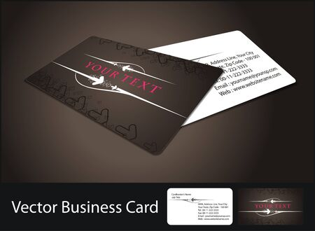 identification card: business card set Illustration