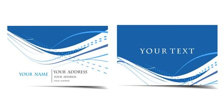 visiting card design: Business card set, for more business card of this type please visit my gallery  Illustration