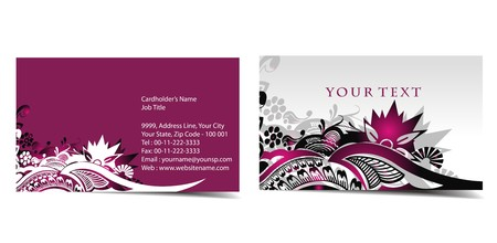 Business card set, for more business card of this type please visit my gallery Stock Vector - 7327355