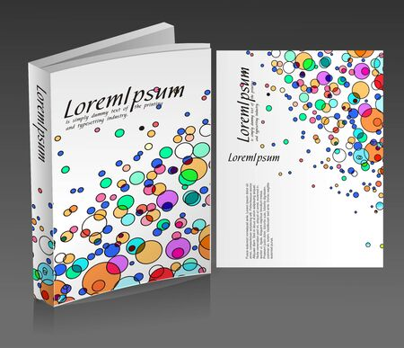 book cover design isolated over colorful background.  Vector