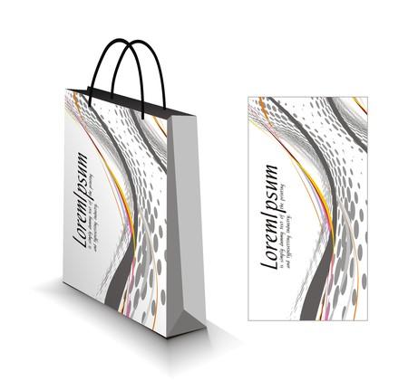 shopping bag isolato su sfondo bianco.