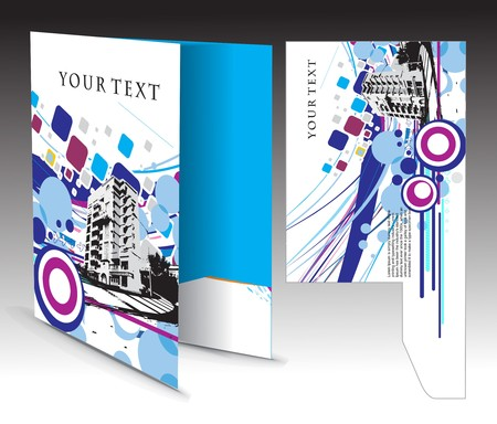 diecut: corporate folder with die cut design, best used for your project.