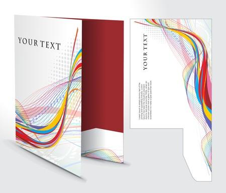 Corporate Ordner mit Würfel schneiden Design, am besten für Ihr Projekt verwendet.