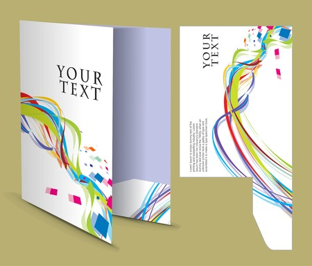 folder design: corporate folder with die cut design, best used for your project.