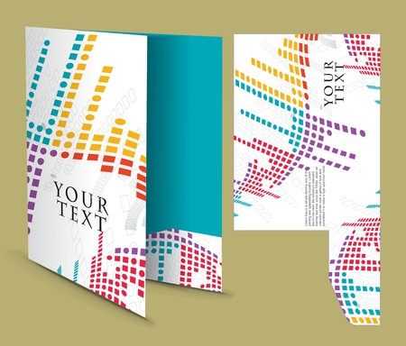 corporate folder with die cut design, best used for your project.  Vector